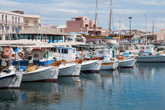 Marina Of Ermoupolis At Syros Island, Greece Royalty Free Stock Photography