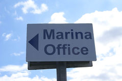 Marina Office Sign Stockbild