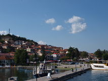 Marina in Ohrid, Macedonia Royalty Free Stock Photos