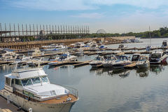 Marina in Old Port Stock Photography