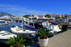 Marina and Old Town Budva Stock Photo
