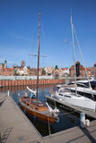 Marina and Old Town Skyline in Gdansk Royalty Free Stock Photos