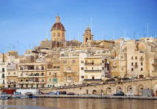 Marina in old town of valetta malta Stock Photos