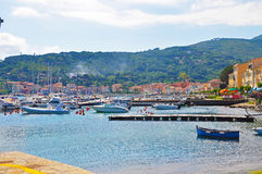 Marina in one of the towns of the island of Elba Royalty Free Stock Images