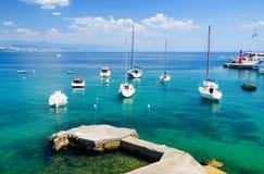 Marina in Opatija, Istria, Croatia Royalty Free Stock Image