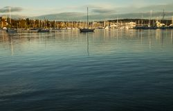 Marina in Oslo in the evening. Royalty Free Stock Photos