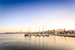 Marina på den Arade floden i Portimao, Portugal Royaltyfria Bilder