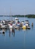 Marina på den Detroit floden Fotografering för Bildbyråer