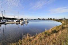 Marina på den Nicomekl floden Royaltyfria Foton