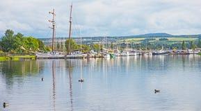Marina på Muirtown Arkivbild