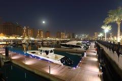 Marina på pärlan i Doha Royaltyfri Foto
