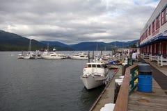 Marina på prinsen rupert, brittiska columbia Arkivbild