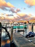Marina på solnedgången Royaltyfri Foto