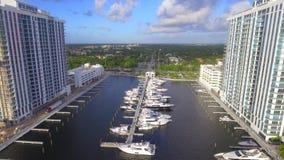 Marina Palms Miami aerial footage stock footage