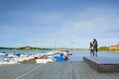 Marina. Panorama of marina in Karlskrona Stock Photography