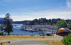Harbourside Park. Gibsons Marina and Winegarten Park on a warm early summer day Royalty Free Stock Photography