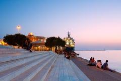 Marina in Patras. Royalty Free Stock Photo