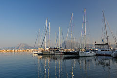 Marina in Patras. Royalty Free Stock Images