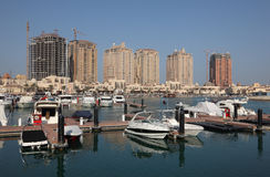 Marina at The Pearl in Doha Stock Photo