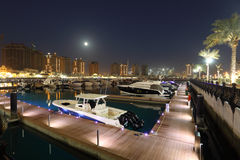 Marina at The Pearl in Doha Royalty Free Stock Photo