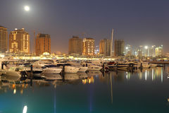 Marina at The Pearl in Doha, Qatar Royalty Free Stock Images