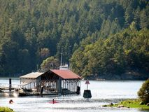 Marina in Pender Harbour. Madeira Park, Sunshine Coast, BC, Canada stock photos