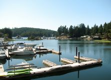 Marina in Pender Harbour. Madeira Park, Sunshine Coast, BC, Canada. Marina in Pender Harbour. Madeira Park, Sunshine Coast, British Columbia, Canada stock photography