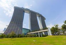 Marina piasków Podpalany luksusowy hotel przy Singapur Fotografia Stock