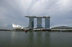 Marina piasków Singapur Podpalany hotel Zdjęcie Stock