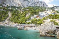 Marina Piccola beach resort on Capri Island in Italy Royalty Free Stock Photography