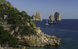 Marina Piccola, Capri Image stock