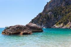 Marina Piccola on Capri Island, Italy. View of Marina Piccola, Island of Capri, Campania, Italy Stock Photo