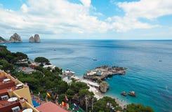 Marina Piccola on Capri Island, Italy. View of Marina Piccola, Island of Capri, Campania, Italy Royalty Free Stock Image