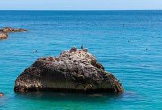 Marina Piccola on Capri Island, Italy. View of Marina Piccola, Island of Capri, Campania, Italy Stock Image