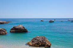 Marina Piccola on Capri Island, Italy. View of Marina Piccola, Island of Capri, Campania, Italy Royalty Free Stock Photos