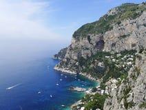 Marina Piccola, Capri, Italy. View of Marina Piccola bay in the island of Capri, Italy Royalty Free Stock Image