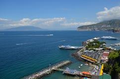 Marina Piccola, för hav, för kust, för himmel, kust- och oceaniska landforms arkivbild