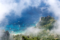 Marina Piccola. Is located on the southern side of the island of Capri. It is near the Faraglioni sea stacks to the southeast. The Via Krupp is a historic Royalty Free Stock Photography