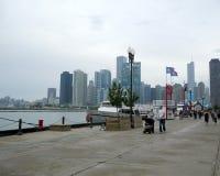 Marina Pier Chicago Illiinois Fotografia Stock Libera da Diritti