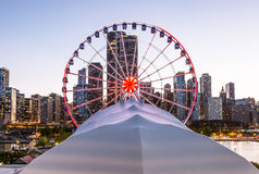 Marina Pier Ferries Wheel Immagine Stock