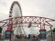 Marina Pier Ferris Wheel Immagini Stock Libere da Diritti