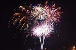 Marina Pier Fireworks Chicago Fotografie Stock Libere da Diritti