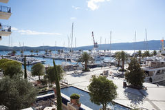 Marina pier Royalty Free Stock Image