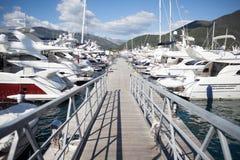 Marina pier Stock Photo