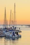 Marina pier at sunset Royalty Free Stock Photos