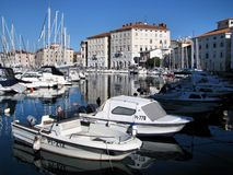 Marina in Piran, Slovenia Royalty Free Stock Image