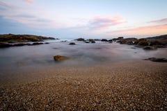 Marina Plażowy zmierzch Zdjęcia Royalty Free