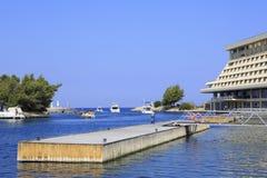 Marina for pleasure boats near Porto Carras Stock Photos
