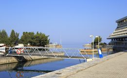 Marina for pleasure boats near Porto Carras Stock Photography