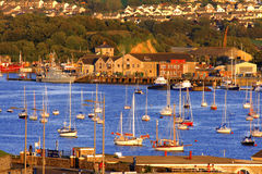 Marina in Plymouth, Devon, UK. Marina close the Mount Batten, Plymouth, UK royalty free stock images